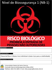 Padrão CIBio-UFSC do Símbolo de Risco Biológico para NB-1