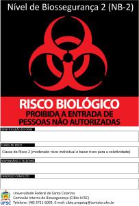 Símbolo Risco biológico NB2 (CIBio-UFSC 2016-JPEG)